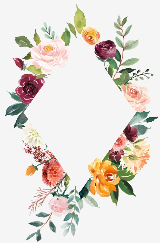 Watercolor Border Leaf Border Hand Painted Border Hand Painted Flower, Watercolor Flower, Sen, Frame PNG and Vector with Transparent Background for Free Download