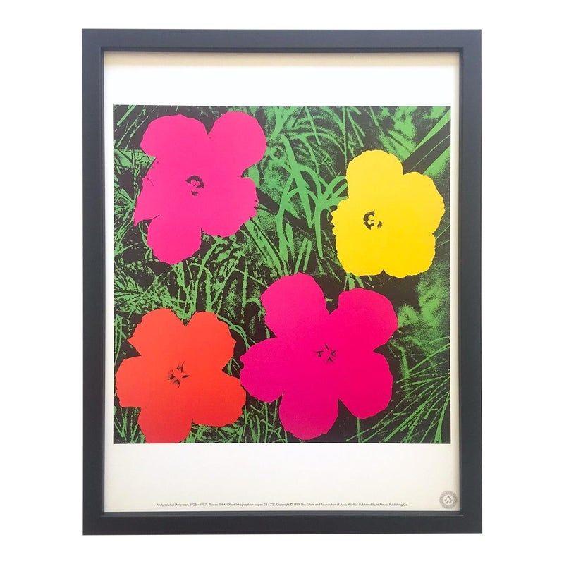 Andy Warhol Estate Vintage 1989 Framed Pop Art Lithograph Print