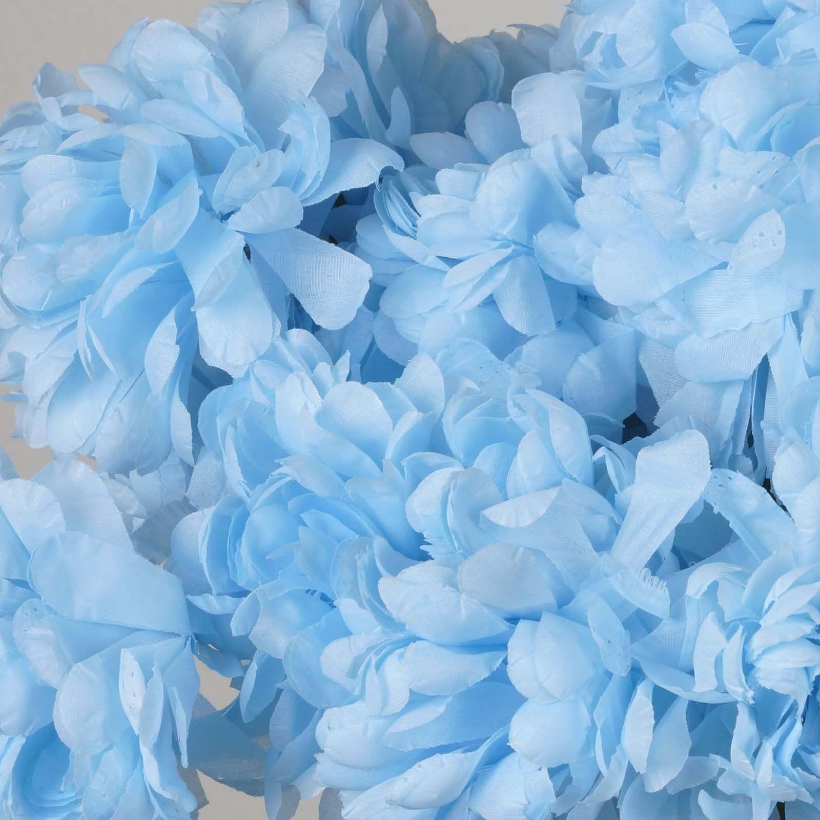 4 Bush 56 pcs Light Blue Artificial Silk Chrysanthemum Flowers