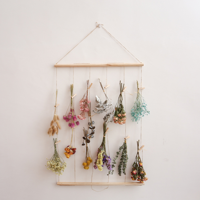 [USD 4.65] South perched in the wild dried flower hanging ins decorated hemp rope photo wall Nordic wind bedroom hanging dormitory decoration - Wholesale from China online shopping    Buy asian products online from the best shoping agent