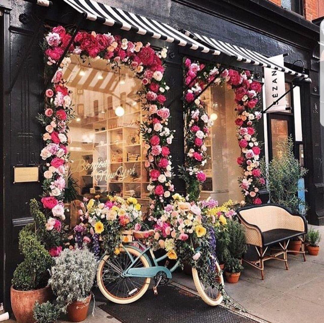 Sezane shop decoration in NYC