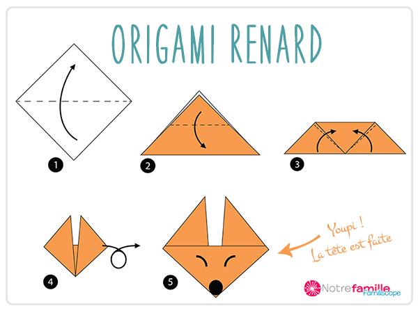 Comment faire un renard en origami