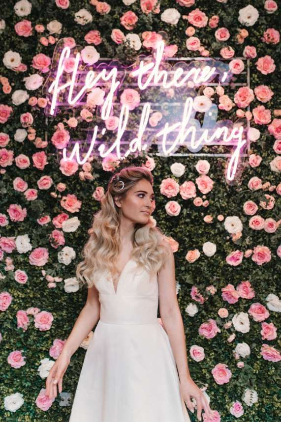 Modern, Playful Bridal Style with all the Cool, Pink Vibes